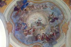 Martínkovice - restaurovaná nástropní malba