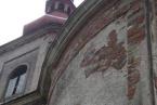 Vižňov, kostel - stav omítek