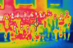 Hromadné foto všech absolventů Letní přírodovědné školy zhotovené termokamerou.