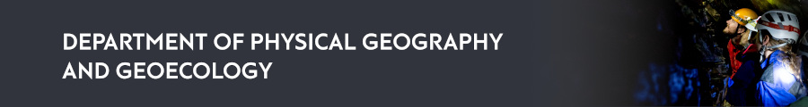 Department ofPhysical Geography and Geoecology