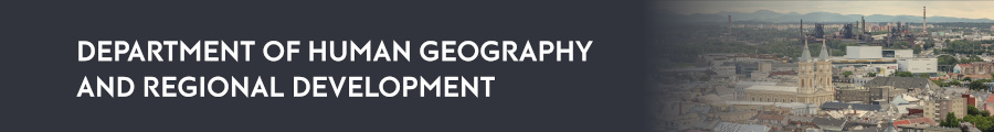 Department ofHuman Geography and Regional Development