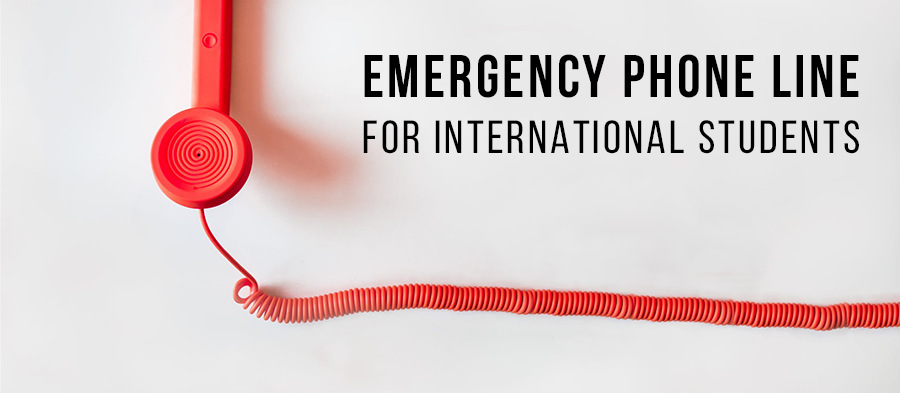 Emergency telephone line & help for international students