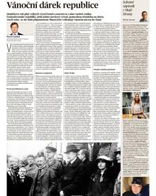 Historik Pavel Carbol působící na Ostravské univerzitě píše donedělních příloh MFDNES