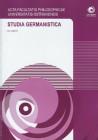 Studia Germanistica č.21, AFPUO