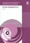 Studia Germanistica č.24, AFPUO